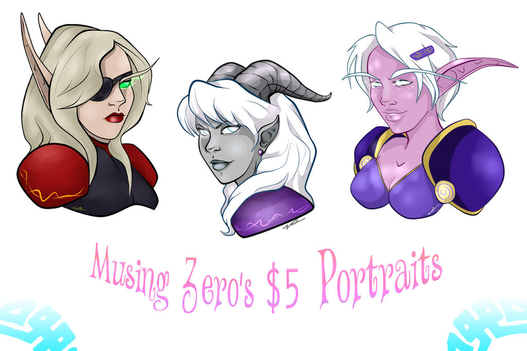 $5 Portrait/Bust Commissions by Musing-Zero