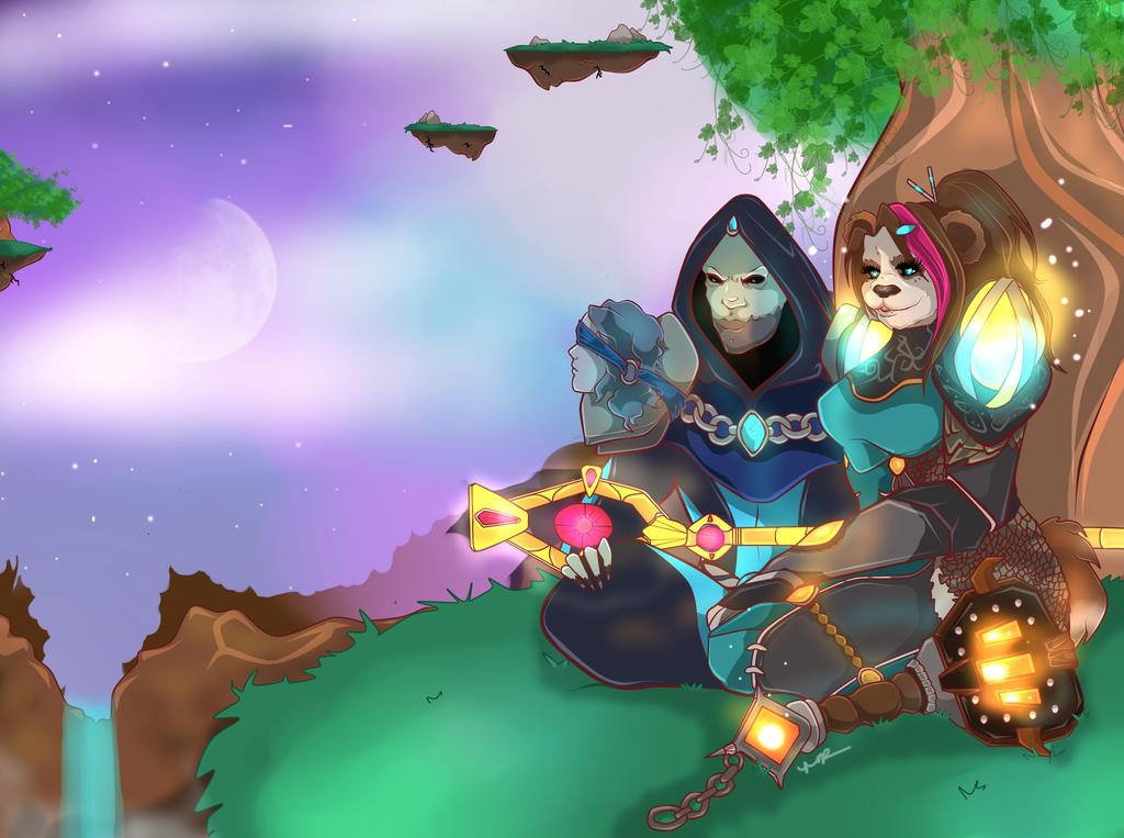 Lokinn and Ziarah by Musing-Zero