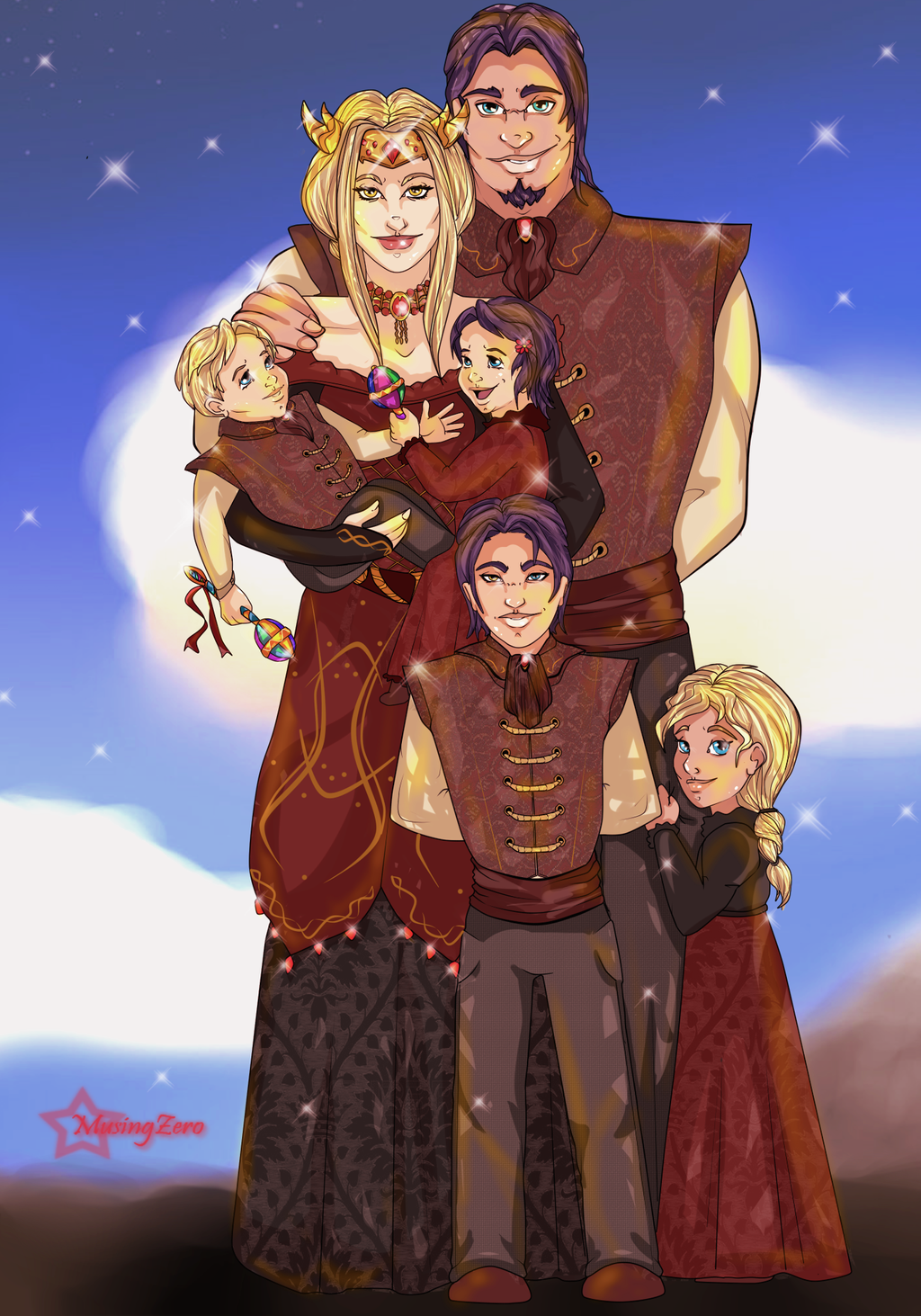 Family Portrait Commission by Musing-Zero