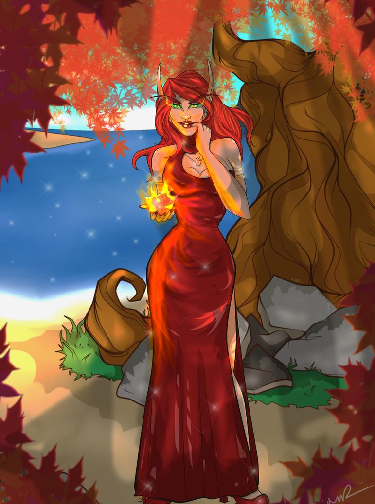 Commission: Bella Fireseeker by Musing-Zero