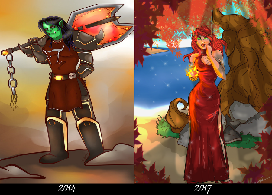 Then and Now by Musing-Zero