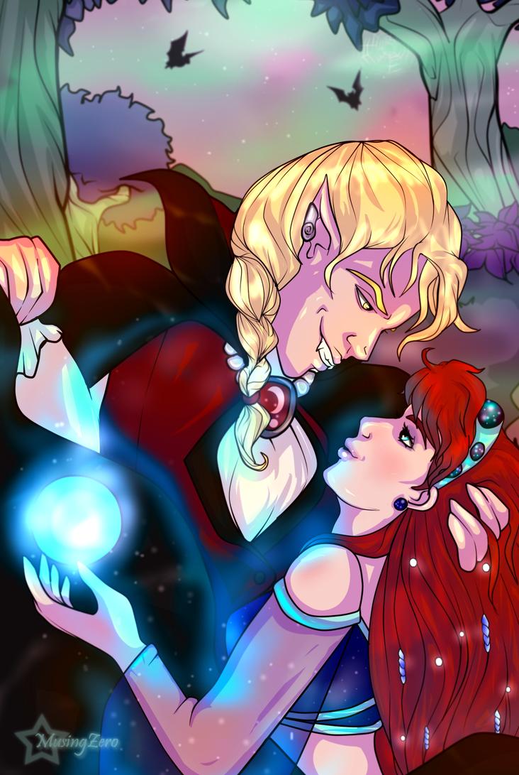 Halloween Commission: Iria and Sebastian by Musing-Zero