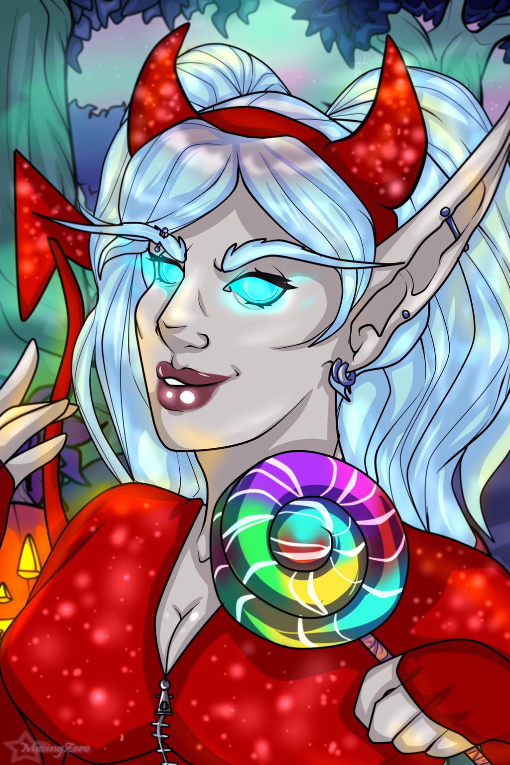 Halloween Commission: Nyrisandria by Musing-Zero
