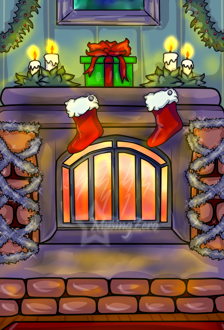 Christmas Commissions Background by Musing-Zero