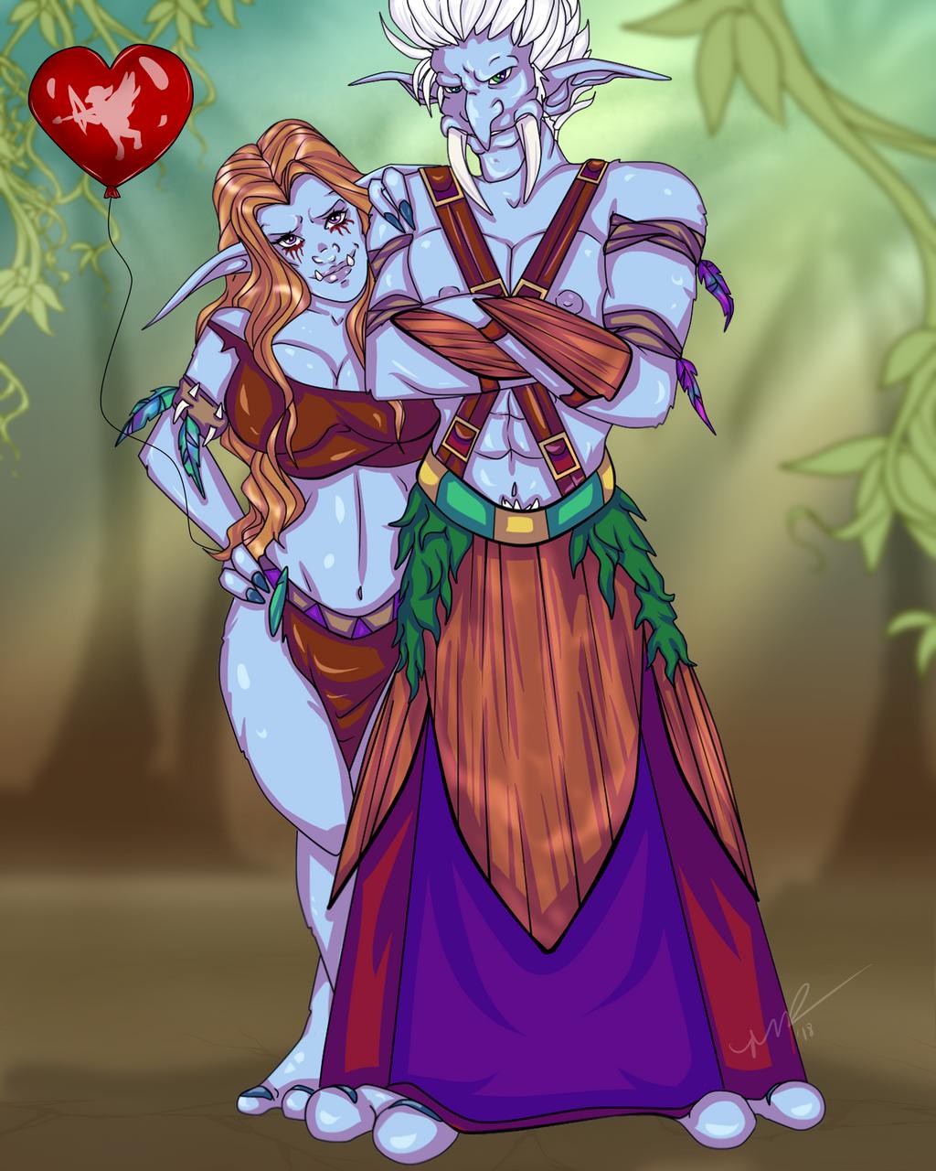 Tagli'boo and Zonra by Musing-Zero