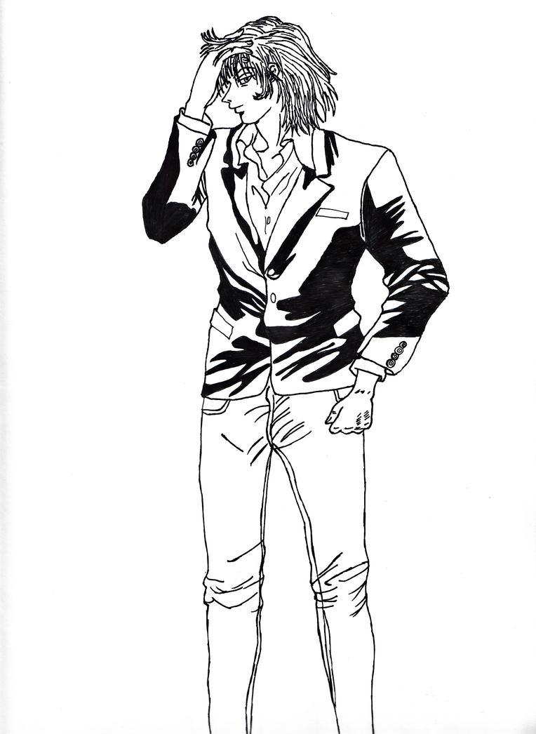 Hisoka modern pose lineart by gigi28