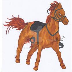 Horse farm sketch colored version by gigi28