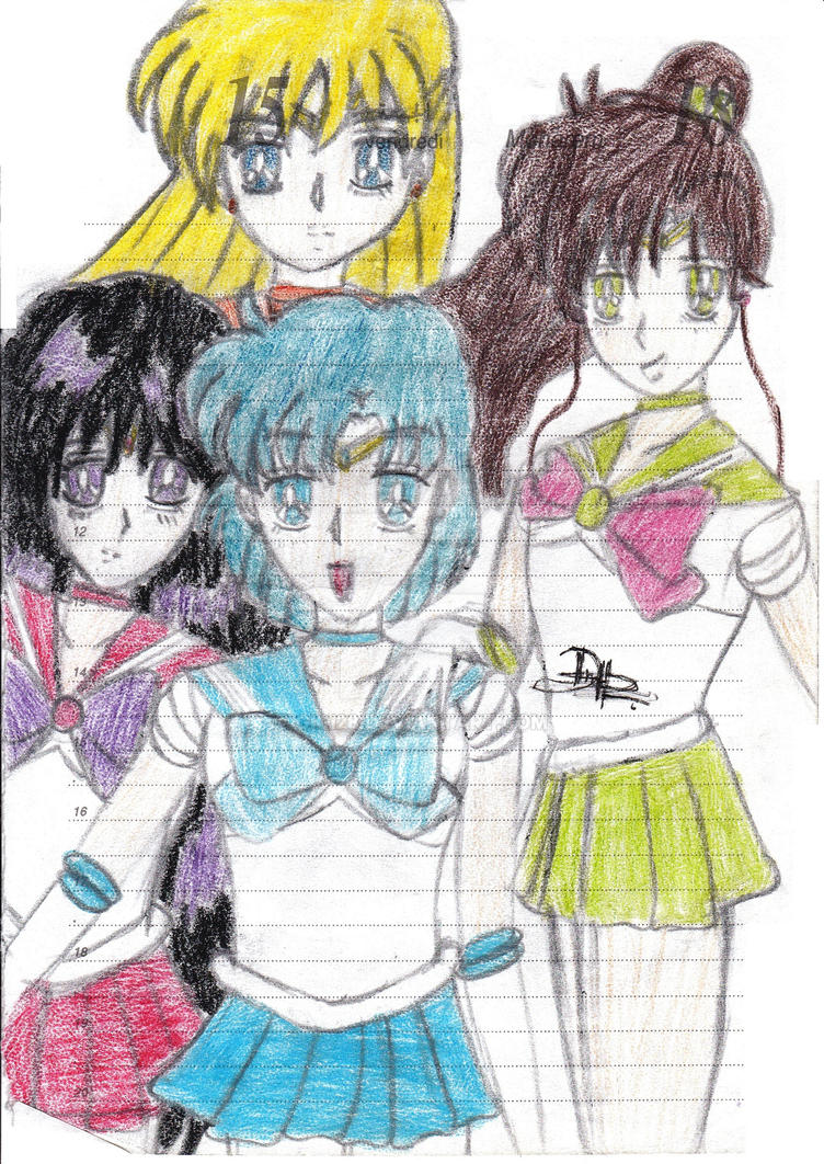 sailor scouts sketch 3 by gigi28