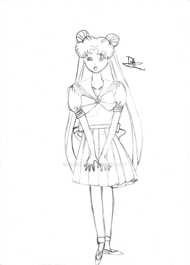 Usagi Tsukino school uniform by gigi28