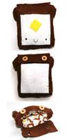 Toast Pouch :: Felt work