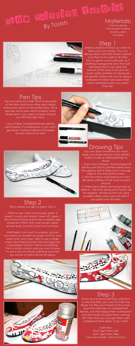 painting shoes tutorial by toasts on deviantart. Black Bedroom Furniture Sets. Home Design Ideas