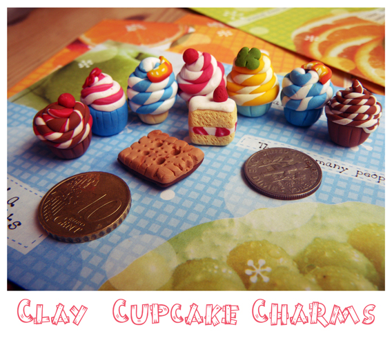 Sweet Cupcakes :: Clay Charms by Toasts