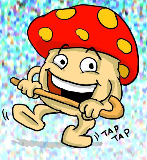 Happy Dancing Mushroom by Fadri
