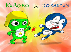 Keroro vs Doraemon by Fadri