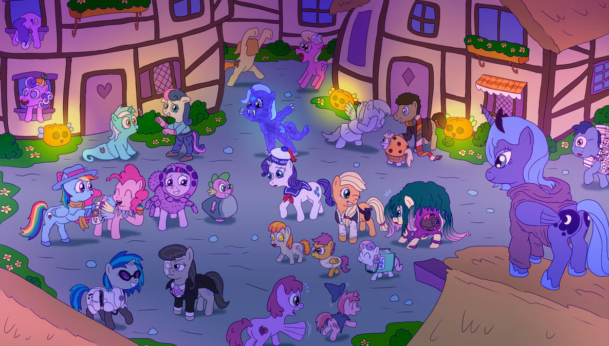 MLP FiM - Nightmare Night by Fadri