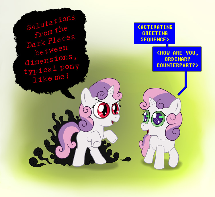 MLP FiM Commission - Thrackerzod and Sweetie Bot