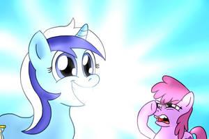 EqDTG II - 06 - Pony beaming by Fadri