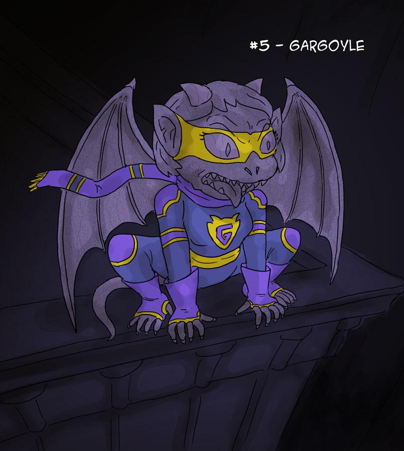 ~Monster Girl Inktober~ #05: Gargoyle by Fadri