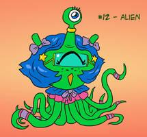 ~Monster Girl Inktober~ #12: Alien by Fadri