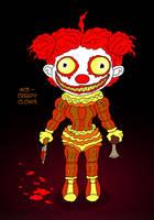 ~Monster Girl Inktober~ #13: Creepy Clown by Fadri