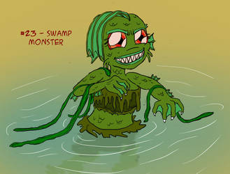 ~Monster Girl Inktober~ #23: Swamp Monster by Fadri