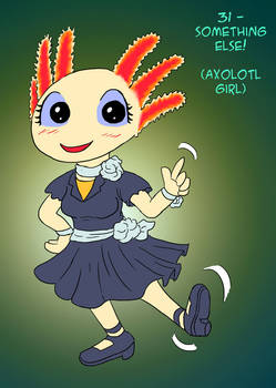~Monster Girl Inktober~ #31: Axolotl Girl