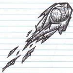 HMWK  doodle Soft-ball comet