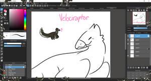 Velociraptor Shimeji (Female Variation)