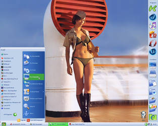 Catherine Bell desktop by pbirkett