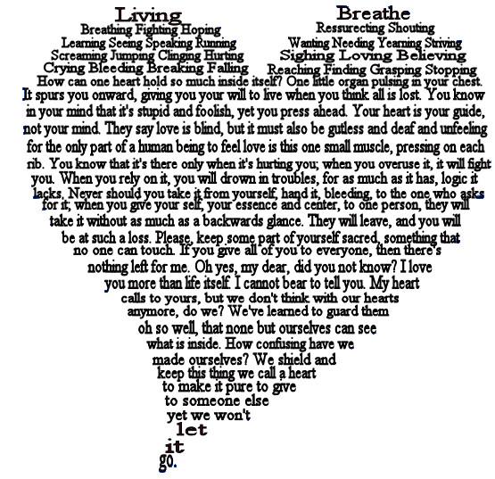 Heart Concrete Poem Heart a Shape Poem by