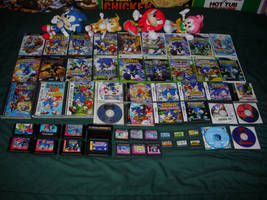 My Sonic game collection by mikeblastdude