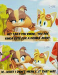 Tails x Sticks (Almost accidental confession.)