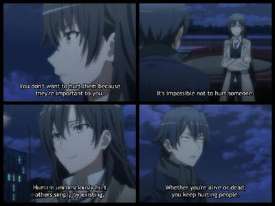 smart anime quote my teen romantic comedy too by