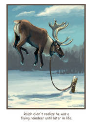 Ralph the Flying Reindeer by blindedangel