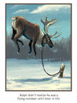 Ralph the Flying Reindeer by blindedangel