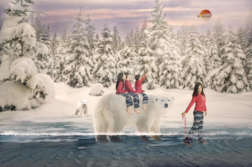 Final Polar Bear by lizmckuhen