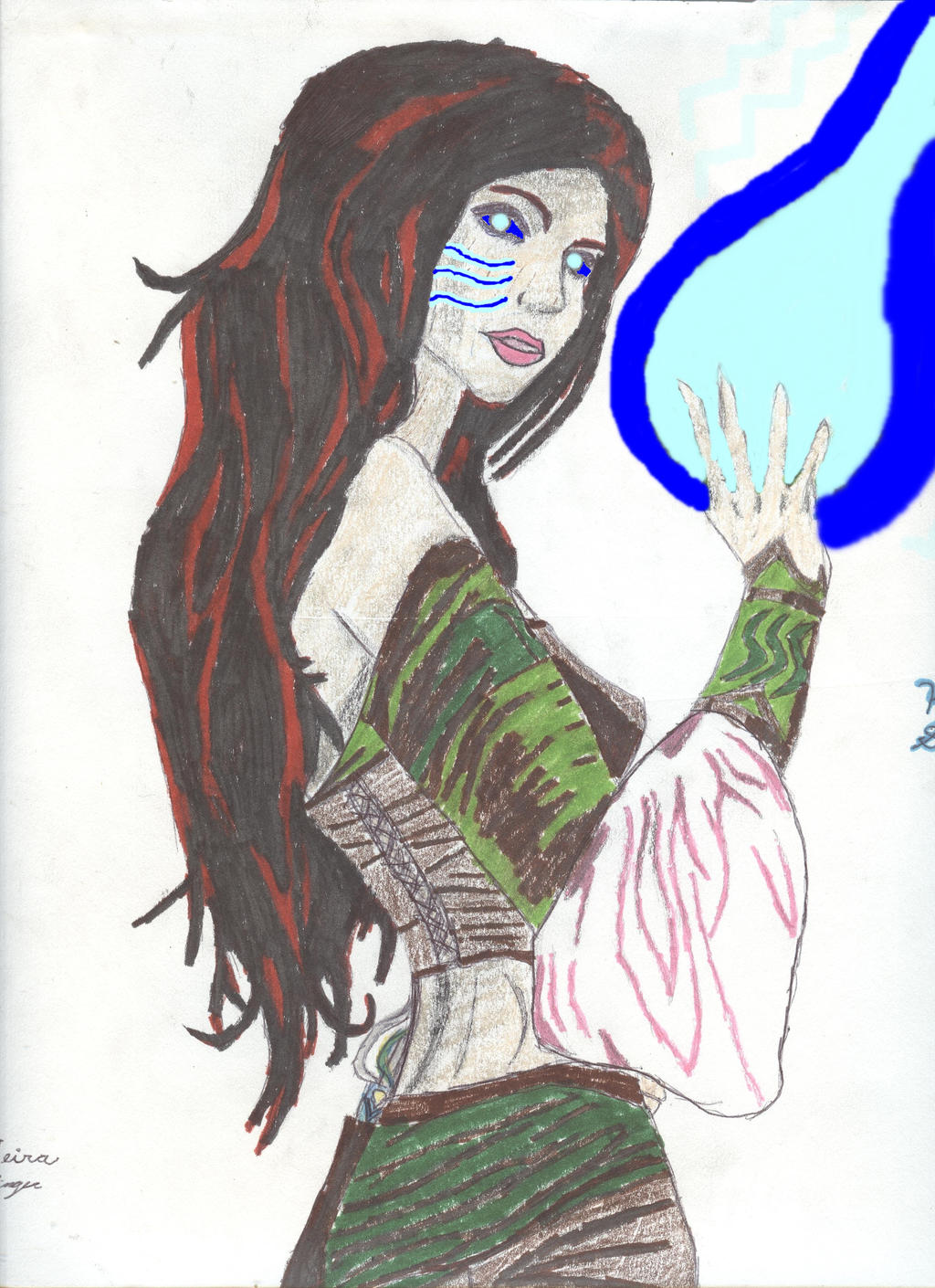 DnD 4e: Kira Stormborn, Primordial Child by Godofwargorgon654