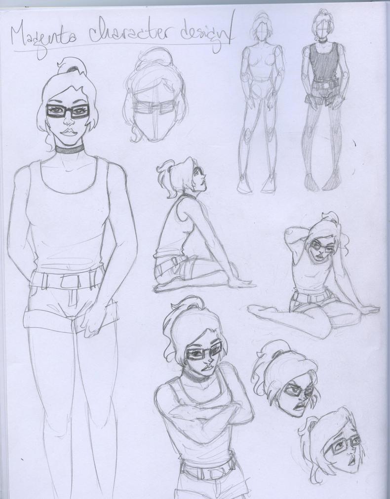 Magenta Character Sheet by CommanderKip