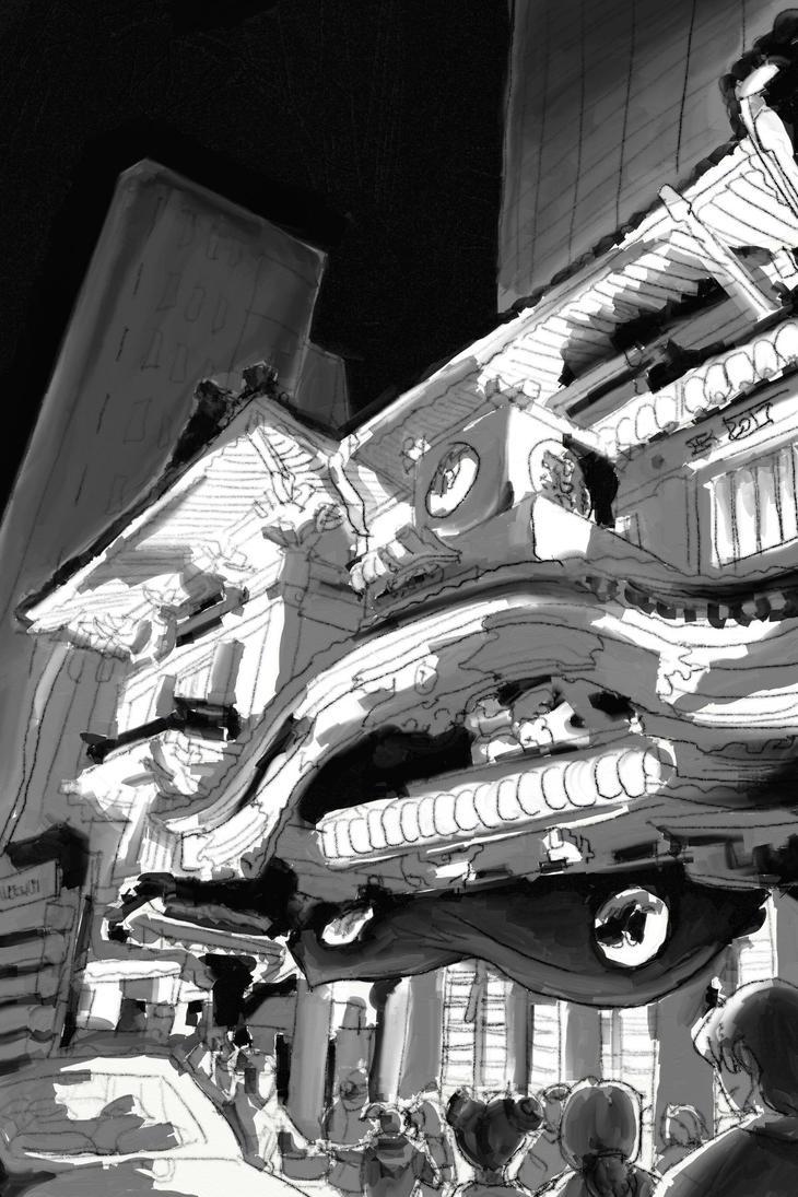 kabuki-za sketch by CommanderKip