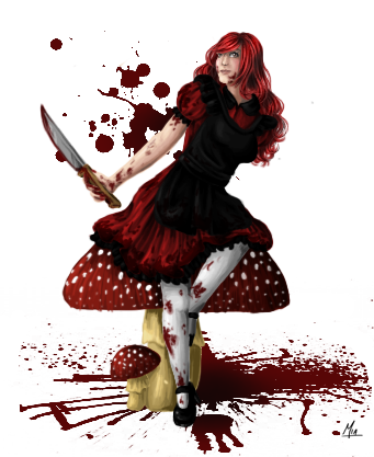 [Commission] Red Alice by mia-chan-p