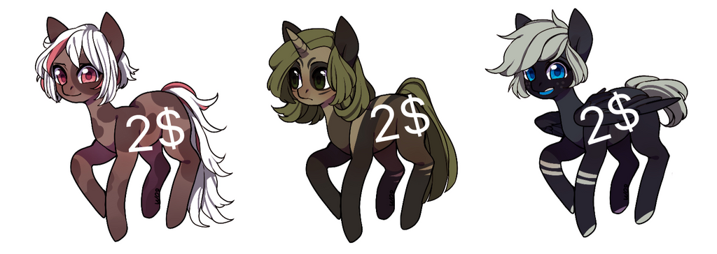 PONY ADOPTS ( #1 OPEN) by rusadopts