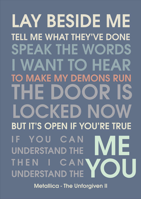 Metallica Unforgiven Quotes. QuotesGram