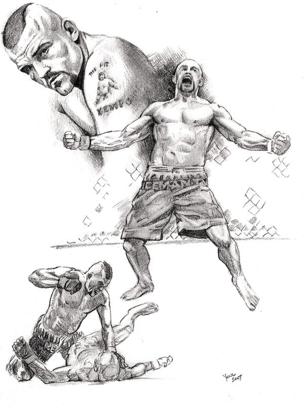 UFC Chuck Lidell  Iceman  by Ufc Drawings