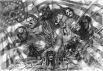 Slipknot and a flag