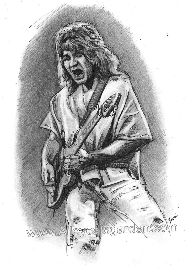 Eddie van Halen by Alleycatsgarden