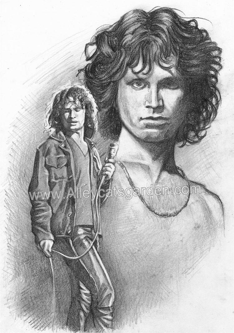 Jim Morrison by Alleycatsgarden