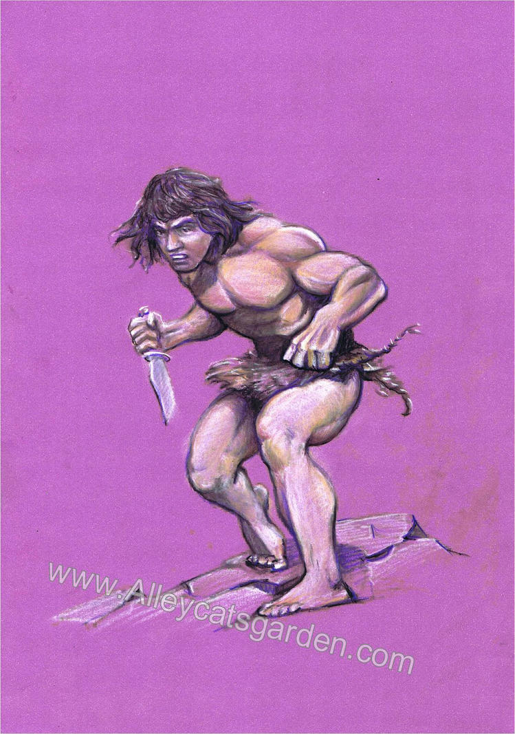 Tarzan by Frazetta by Alleycatsgarden