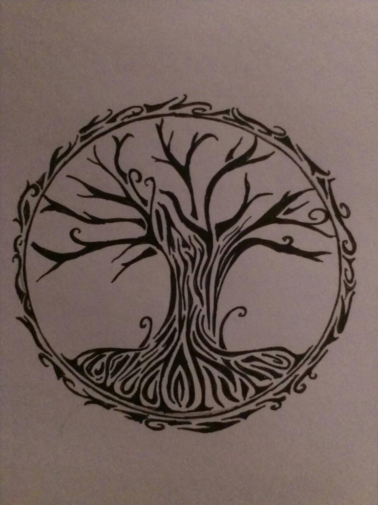 Tribal Tree Of Life: Tribal Tree Of Life By Moehganne On DeviantArt