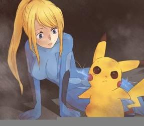 Samus versus pikachu by VennVersus
