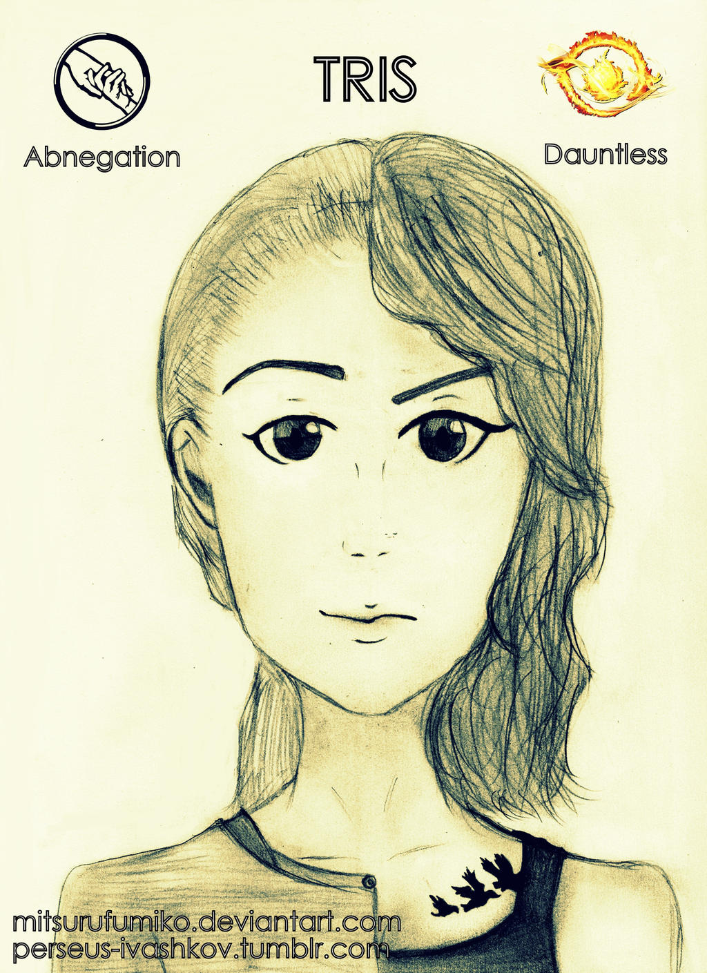 Tris Abnegation and Dauntless, Divergent by mitsurufumiko ...